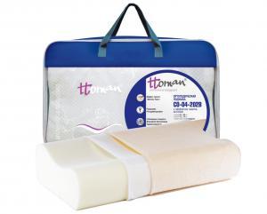 Ортопедическая подушка под голову с эффектом памяти с перфорацией СO-04-202B (14