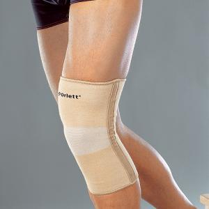 Бандаж на коленный сустав эластичный с метал. спиральными ребрами (coolmax)