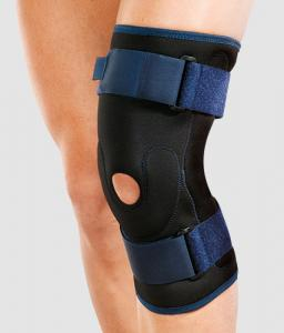 Ортез коленного сустава неразъемный из неопрена с шарнирами из металла арт. RKN-