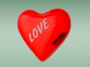 Грелка солевая Красное сердце